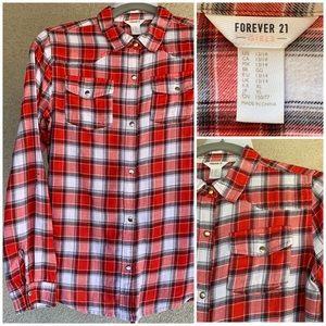 "🔥🔥🔥3/$20🔥🔥🔥 ""Forever 21"" Flannel Plaid Shirt"